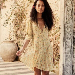 Doen Ceres Dress in Lily of the Valley Floral NWT